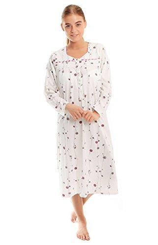 Lady Olga -  Camicia da notte  - Donna Long Sleeve Nightie