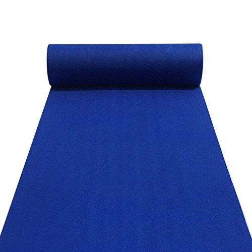 LCM Floor Carpet Runner Carpet Runner für Hall Stair Party Hochzeit Hochzeiten Aisle Carpet Runner Echtes Blau (Color : Blue, Size : 1 * 100M)