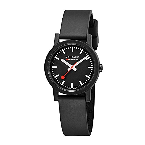 Mondaine Womens Quartz Watch, Analogue Classic Display and Rubber Strap MS1.32120.RB