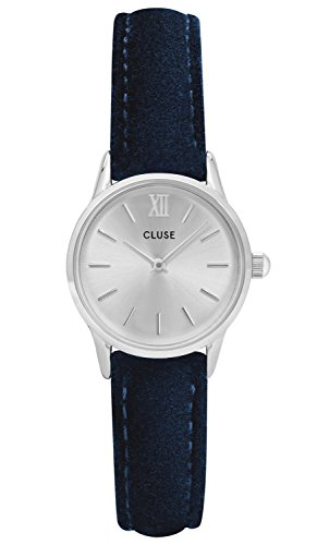 Cluse Damenuhr La Vedette Silver/Blue Velvet CL50017