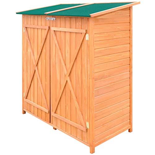 vidaxl cobertizo de madera para el almacenamiento de herramientas de jardín