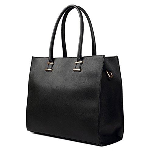 Miss Lulu, Borsa tote donna 1509 Black