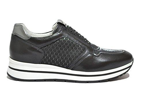 Nero Giardini Sneakers slip on nero 7231 zeppa scarpe donna P717231D 37