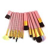9 color 18PCS Set de pinceles de maquillaje Pro Blush Foundation...