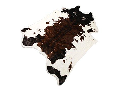 Fausse fourrure Vache Tapis 4,9x 6,5Pieds Vache Tapis Animal Imprimé Zone Tapis Moquette pour Home Grande taille