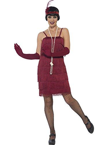 Jahre Carla Flapper Kostüm für Damen, 2XL, Bordeaux (Jazz Flapper Halloween-kostüm)