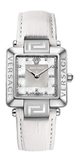 Versace - 88Q99SD497 S001 - Montre Mixte - Quartz Analogique - Bracelet Cuir Blanc