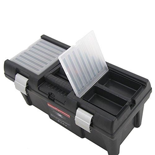 Kunststoff Werkzeugkoffer STUFF Semi Profi Alu 20″, 52,5×25,5cm Kasten Werzeugkiste Sortimentskasten Werkzeugkasten Anglerkoffer - 6