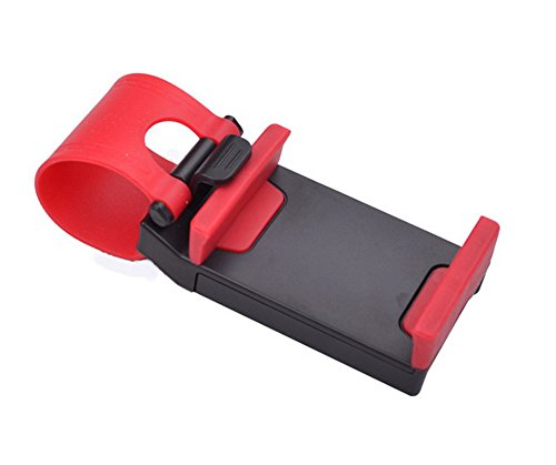 Hosaire 1x KFZ Handyhalterung Auto Phone Lenkrad Halter Universal Handy KFZ Halterung Autohalterung Phone Ständer(Zufällige Farbe 5,5 Zoll oder Weniger) (Auto-lenkrad-handy-halter)