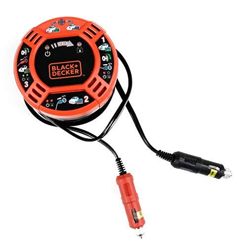 Black- & Decker KFZ Batterieverstärker, Starthilfekabel über 12V Auto Zigarettenanzünder mit 6 Meter Überbrückungskabel, LED-Anzeige