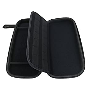 Nintendo Switch Carrying Case Portable Hard Protective Travel Carry Case Shell Pouch for Nintendo Switch Console & Accessories Holds 14 Game Cartridges (Black)