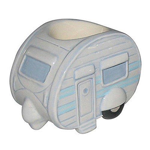 Eierbecher aus Keramik, Wohnwagen-Design, in Geschenkbox
