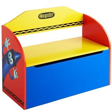 Crayola niños libros DVD y banco de almacenamiento de juguetes