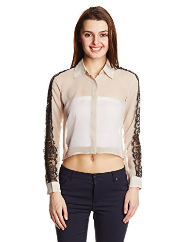 Anaphora Women's Button Down Shirt (55912_Beige_XL)