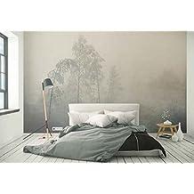 Vlies Fototapete Fotomural   Wandbild   Tapete   Wald Bäume Frost Nebel    Thema Wald Und