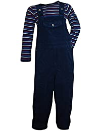 FIXONI - Bébé Pantalon salopette thermique avec le corps garçon, bleu foncé