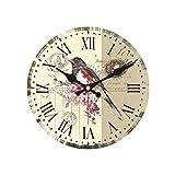 Dwthh Oiseaux Conception Fleur Horloge Murale Pas Cher De Parede Grand Silencieux...