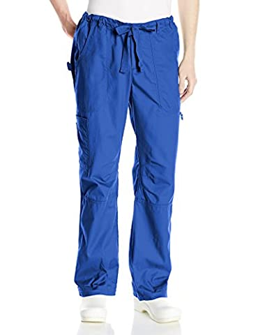 KOI Medical mens James Elastic-waist Men's Scrub Pants With Zip Fly and Drawstring Waist Medical Scrubs Pants  - blue