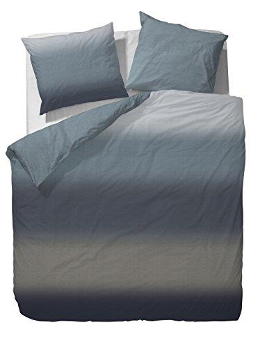 Marc O'Polo Home Elva Mako-Satin Bettwäsche 155x220 + 1x 80x80 Ocean blue