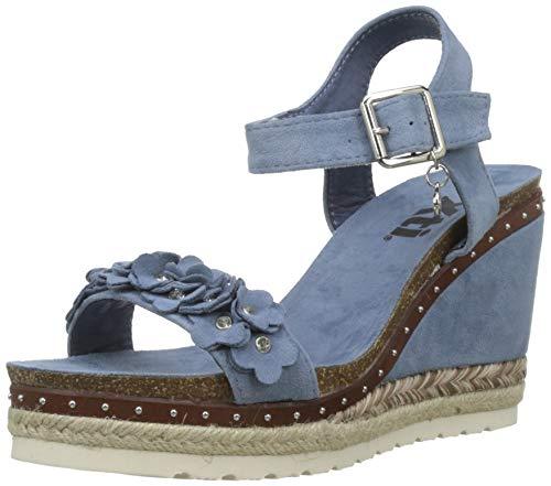 XTI 48921 Sandali con Plateau Donna, Blu Jeans, 36 EU