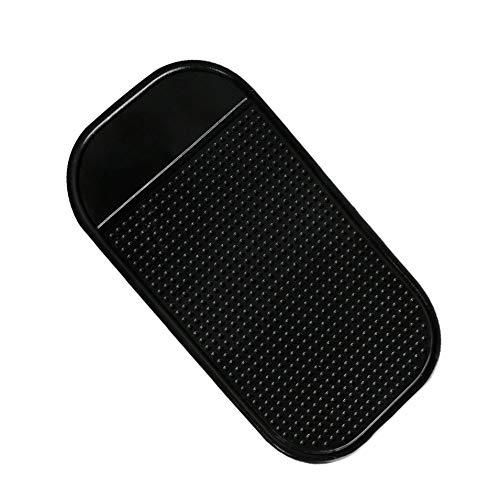 Preisvergleich Produktbild HermosaUKnight Silikon-Fahrzeug Anti-Rutsch-Matte Anti-Rutsch-Pad mit ausgeprägter Runde für Mobile Black Ordinary
