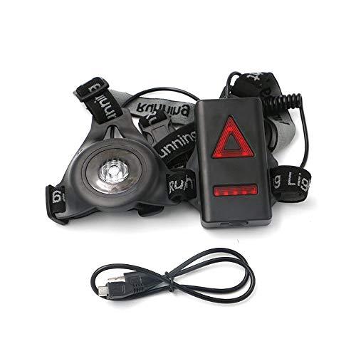 greetuny illuminazione per corsa di sicurezza LED luce notturna di petto ricaricabile per Jogging Campeggio, Corsa, Pesca Sport esterno