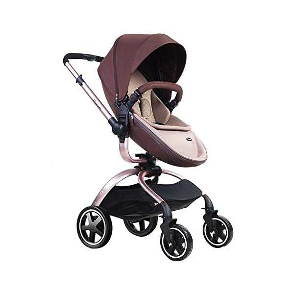 Baby Stroller, Foldable Lightweight EU Baby Doll Stroller, Leather Baby Trend Jogging Stroller for Baby Infant Newborn Baby (Color : Coffee) AEQ ●BABY ALIVE STROLLER TWO-WAY IMPLEMENTATION:enhance baby comfort baby stroller fan, check the baby at any time, family is more assured. ●5+1 SECURITY PROTECTION: for baby stroller five-point seat belt + armrest hatch protection, all-round coverage to protect the baby's key parts, baby pram stroller strictly slip away. ●ENJOY THE SUN WITHOUT SUNBURN: Baby strollers are made of natural natural fabric and bottom PT film. They have excellent rebound and stretchability, and they can maintain a smooth and beautiful appearance after many times of folding. With authoritative certification, it can isolate more than 95% of ultraviolet rays, meet the travel needs of the baby in different time periods, and resist the sun glare. Baby stroller toy protects the baby's delicate skin. 3