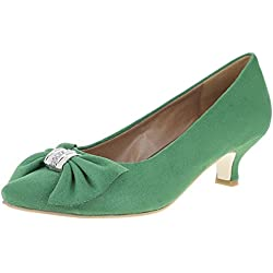 Andrea Conti Damen Pumps 0595463, Farbe:grün, Größe:40 EU