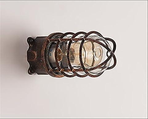 GZEDG Mur / bronze étanche mur / lampe murale Edison / loft mur rétro style industriel / lampe de plafond créatif / personnalité allée étanche lampe murale extérieure couloir / lampe mur artistique de fer / ampoule contient -L78 * 28 (cm)