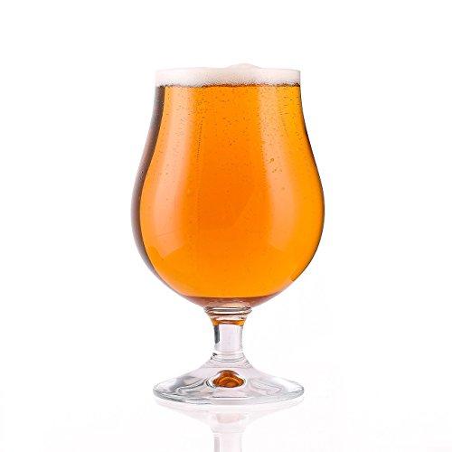 Stölzle Lausitz 0,4l Biertulpe der Serie Berlin, 400ml, 6er Set, hoch funktionelle Bier-Gläser, zeitlos elegante Bier-Schwenker, hochwertige Qualität, (Bier Becher Gläser)