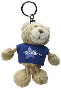 NICI n15876-Llavero Oso con Camiseta Giovanni, Azul