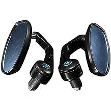 """Espejos laterales de moto - TOOGOO(R)Par de espejo trasero de manillar de motocicleta de 7/8"""" universal negro"""