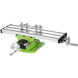 KKmoon Mini Multifonction Fraisage Table de Travail Fraiseuse Composite Perçage Table de Coordonnées 310x90 mm