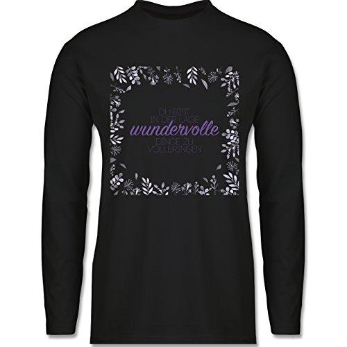 Statement Shirts - Inspirierende Zitate - Du kannst wundervolle Dinge - Longsleeve / langärmeliges T-Shirt für Herren Schwarz