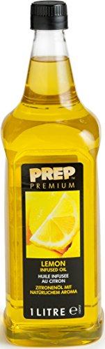 PREP PREMIUM Zitronenöl 1 x 1000 ml PET - Infused Oil natürliches Zitronenaroma für Fisch, Geflügel, Gemüsegerichte oder Salatdressings, Olivenöl mit Zitrone (Aromatherapie Kalt-warm)
