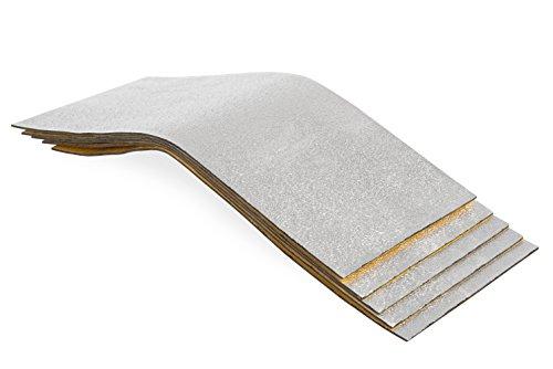 Preisvergleich Produktbild 10 Stück Bitumenmatten + Alu, Antidröhnmatte, Dämmmatte Selbstklebend 500x200x2,8mm