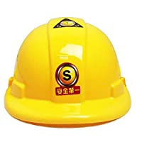 1 Piece Children Hard Hat Toy Yellow Safety Cap For Kids Construction Costume Engineer Building And Construction Toys For Children Play Games Cosmetic For Ages 3 To 8 Years