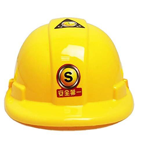 Iaywayii 1 Stück Kinder-Schutzhelm Spielzeug Gelb Sicherheitskappe Für Kinder BAU Kostüm Ingenieur Bauwesen Spielzeug Für Kinder Spiele Spielen Kosmetik Für Kinder Ab 3 Bis 8 Jahre