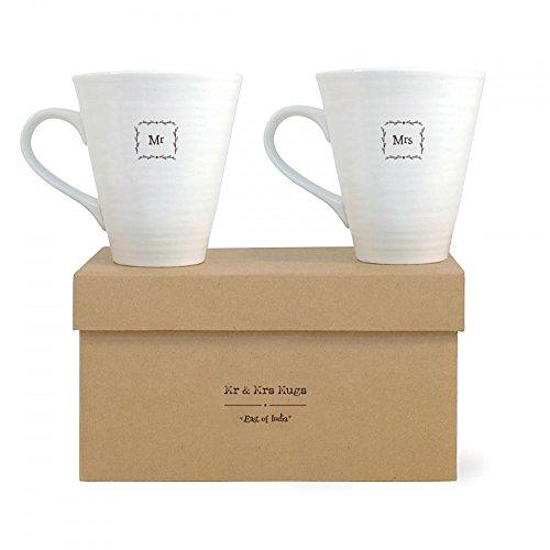 East of India Kaffeebecher-Set Mr & Mrs, in Geschenk-Schachtel