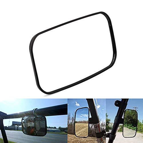JFG RACING Universal-Spiegel, klarer Seitenspiegel oder Mittelspiegel mit ABS-Gehäuse und Multi-Klemmen, für UTV Golf Cart ATV Rückspiegel