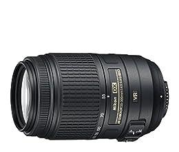 Nikon AF-S DX VR 55-300mm F4.5-5.6 VR - Objetivo para Montura F de Nikon (distancia focal 55-300mm, apertura f/4.5, estabilizador) color negro