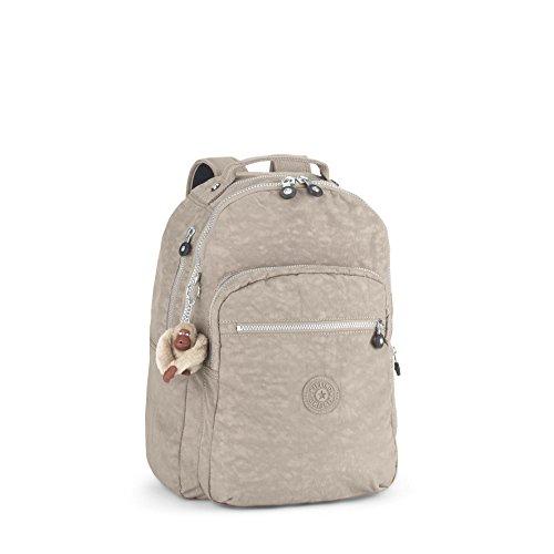 Kipling - Clas Seoul - Grand sac à dos - Gris (Warm Grey) - (Gris)