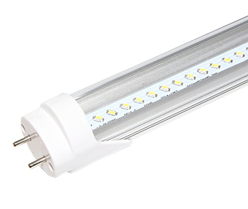 600mm 2LED-Leuchtstoffröhre, Energiesparlampe, 4.000K, Weiß Transparente Abdeckung, Retrofit-Leuchtstofflampe Energiesparend T8oder T12 (2ft Vorschaltgerät)
