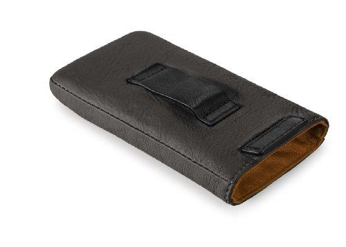 NAVA, N-leather iphone case, Organizer borsa, Unisex - adulto Marrone scuro