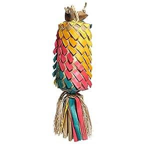 Rosewood Boredom Breaker Woven Wonders Rainbow Pinata Bird Toy, Medium/Large