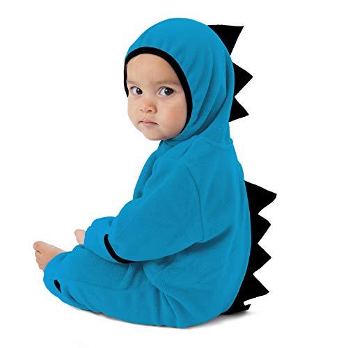 Cuddle Club Baby Erstausstattung aus Fleece Baby Body für Neugeborene bis 4 Jahren - Baby Strampler - Baby Kleidung / Kinder Pyjama Winterjacke - (Neugeborenen Dinosaurier Kostüm)