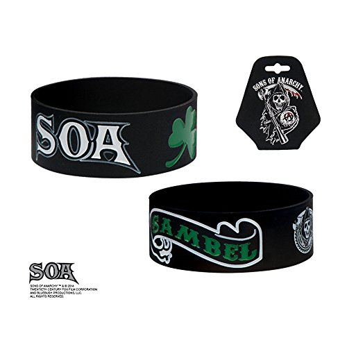 Sons Of Anarchy Rubber Braccialetto Wristband Green SAMBEL SASO