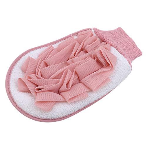 Beiswin Natürlicher Luffa-Pinselhandschuh mit Badekugel Dusche Körperreinigung Dusche Massage Peeling Wäscher für Badezimmer (Rosa) - Der Mailbox Besten Die