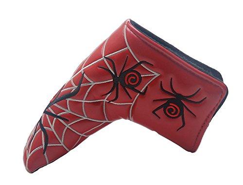 Ruche Filtre Spider Web Design Housses de tête lame de putter golf couvre-fer pour s'adapter à toutes les marques TaylorMade Titleist Scotty Cameron Ping Callaway Lame de putter