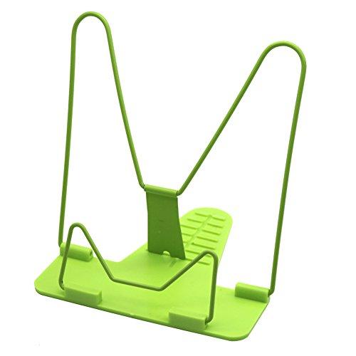 Adhere To Fly 1 Stück bewegliches faltbares justierbares Büro-Bücherregal Bookend Kursteilnehmer-Schreibwaren 3 Farben (Grün) (3 Stück Bücherregal)